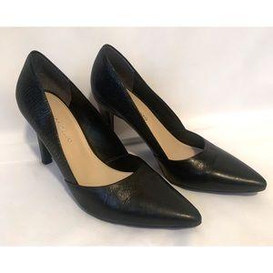Franco Sarto size 8 black leather heels